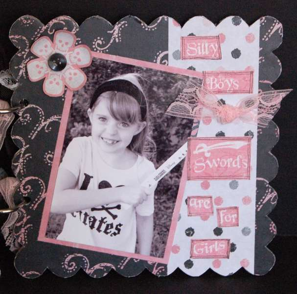 Rusty Pickle *Pirate Princess scalloped chipboard album PG8