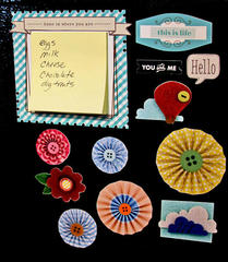 City Park Magnets and Magnetic Sticky Note Holder