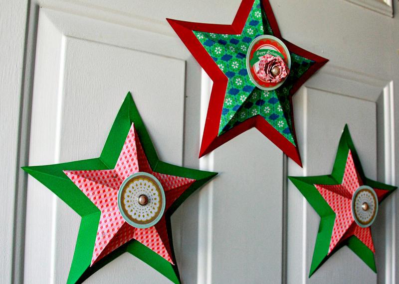 3D Peppermint Stars