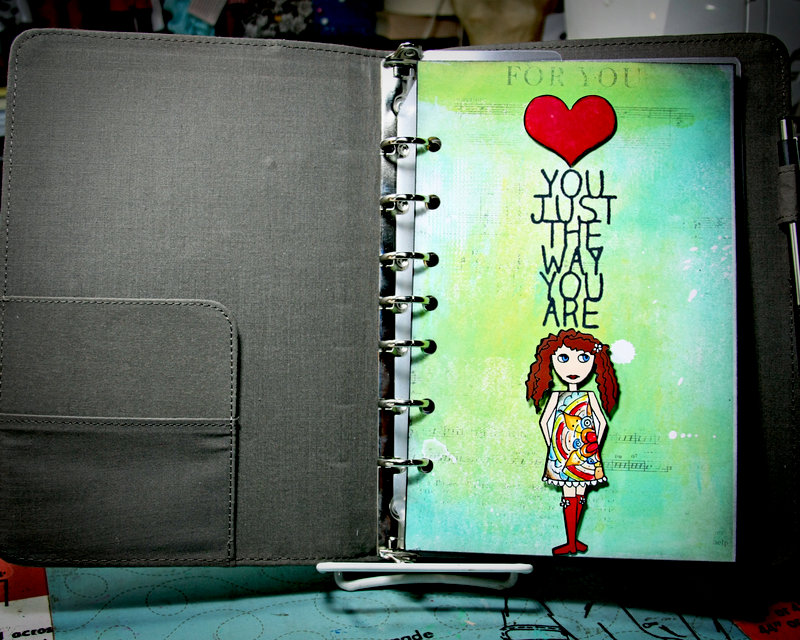 Just The Way You Are (Art Journal Planner Page)