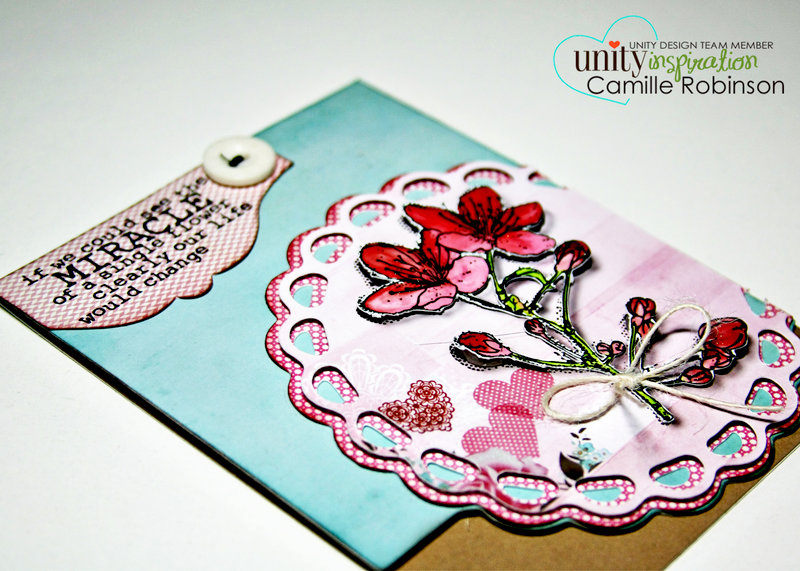 Single Flower Miracle--NEW Unity Stamp of the Week