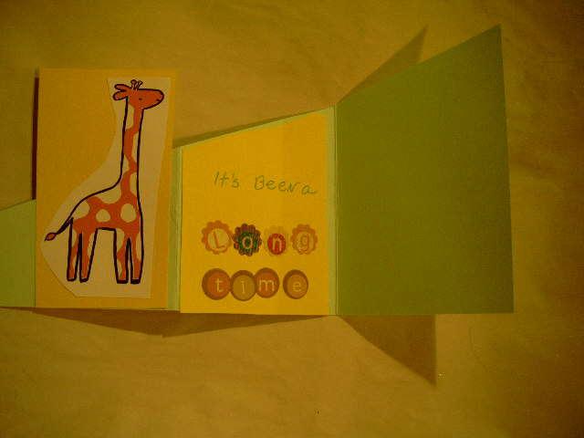 open tri fold card