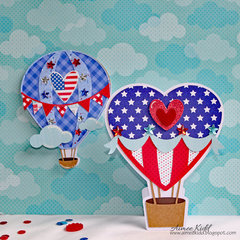 Hot Air Balloon Shaped Cards