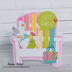 Let's Chill beach chair shaped card