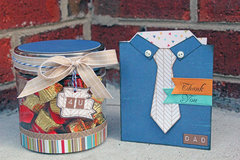 Father's Day shirt card with matching candy jar