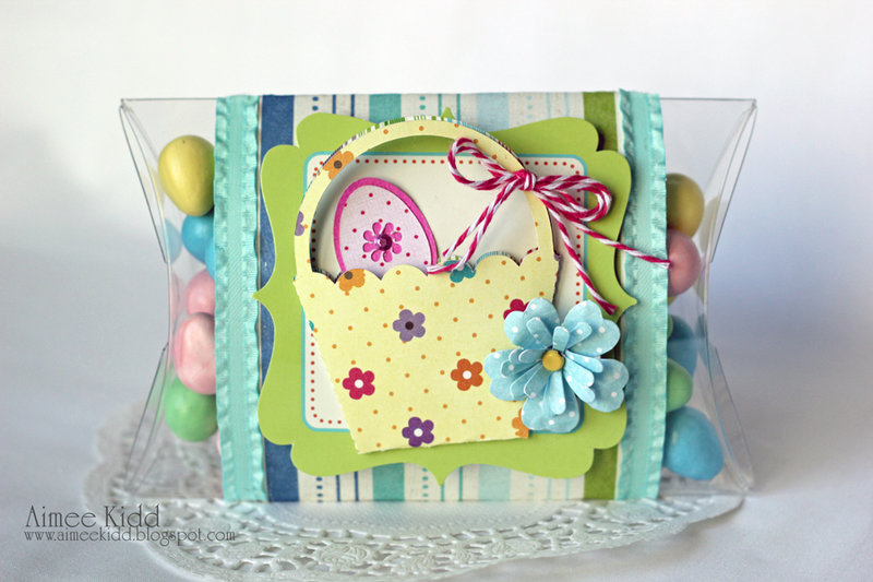 *Imaginisce* and Xyron blog hop Easter pillowbox