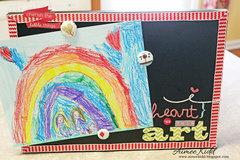 i {heart} this art display board