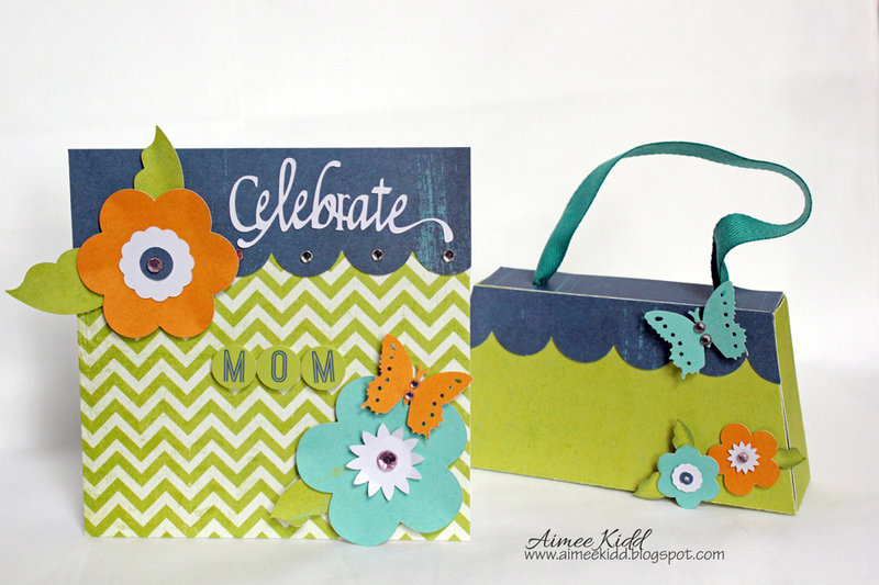 Mother's Day card with matching purse gift box