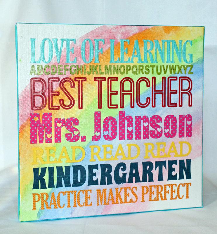 Best Teacher canvas art