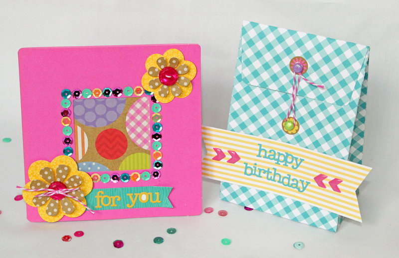 Happy Birthday gift bag and card
