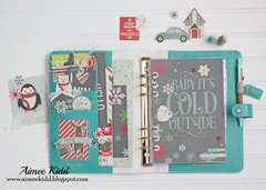 Baby It's Cold Outside Planner pockets & dashboard
