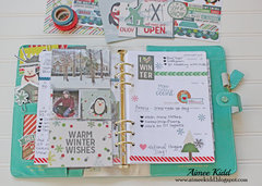 Baby It's Cold Outside Planner weekly spread