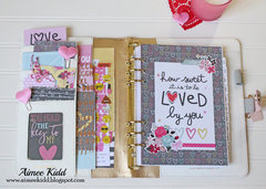 How Sweet...Loved by You Planner pockets & dashboard