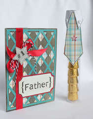 Father's Day card w/matching tube *SRM Stickers*