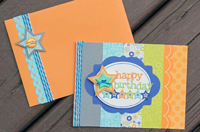 Doodlebug Happy Birthday card w/envelope