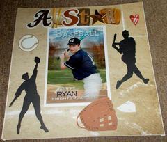 My oldest playing baseball