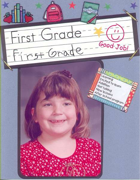 Leanna's 1st Grade Picture