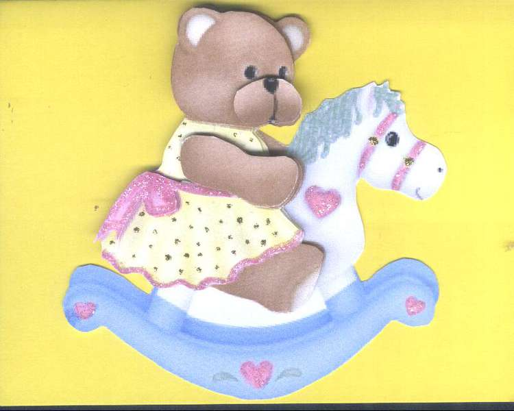 3 D Rocking Horse and Teddy