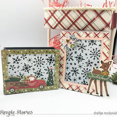 Winter Cottage Tiered Tray