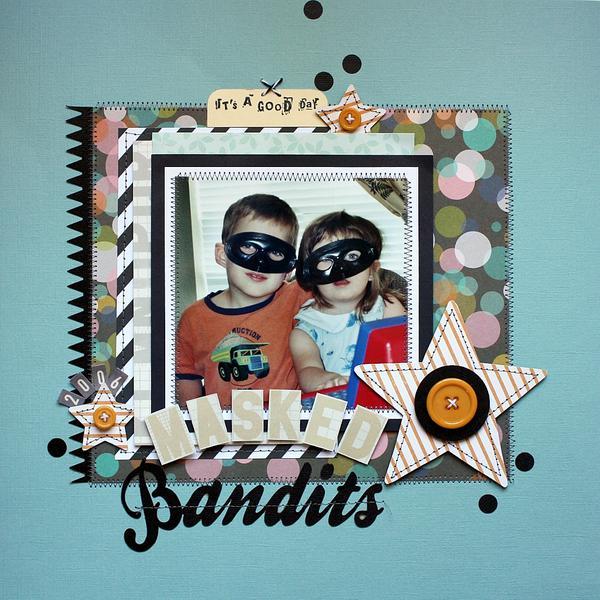Masked Bandit Layout...Paper Bakery Kits