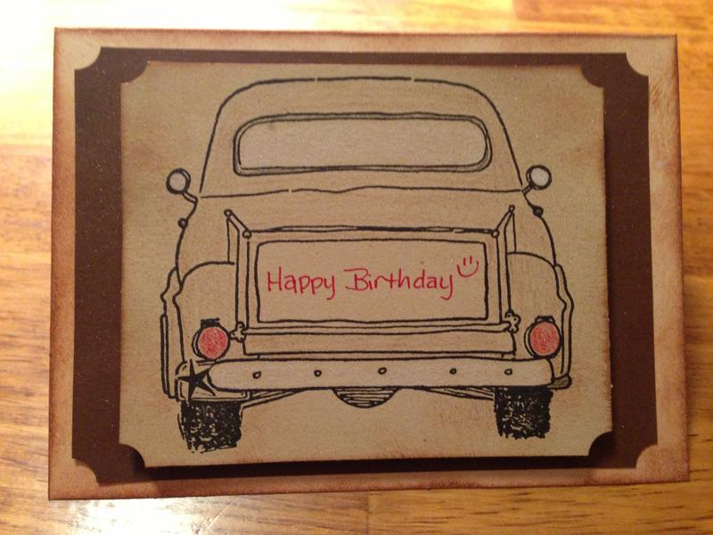 vintage truck birthday card