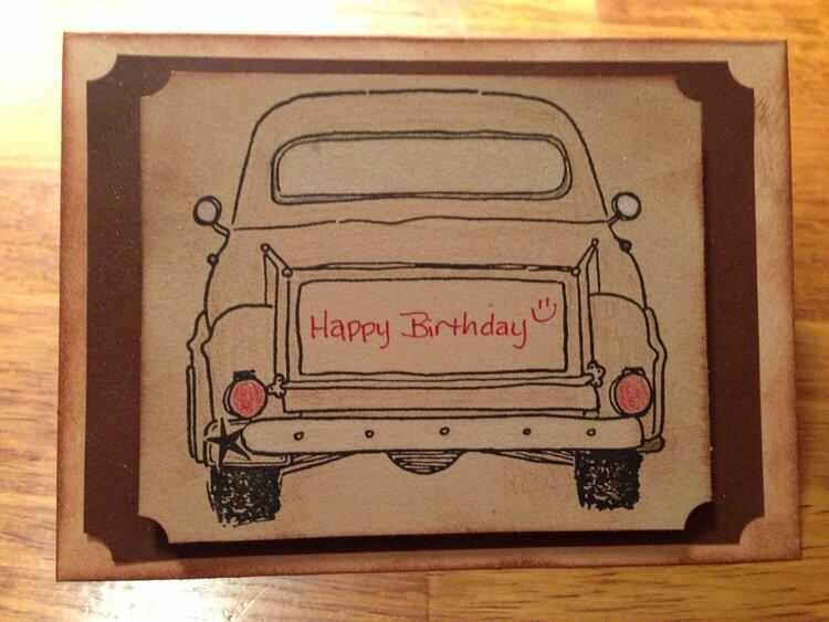 vintage truck birthday card