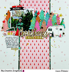 Christmas Tree Farm | My Creative Scrapbook kit club | Crate Paper | Falala | Hampton  Arts