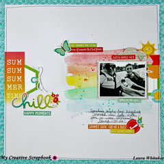 SUM SUM SUMMERTIME CHILL | MY CREATIVE SCRAPBOOK | SIMPLE STORIES | PHOTO PLAY PAPER