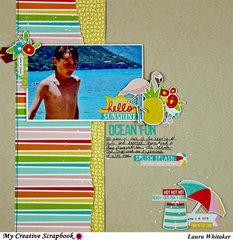 Ocean Fun | Simple Stories | My Creative Scrapbook | Summer Days