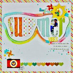 Summer Vibes   SCT Magazine   digital cut file   Just Nick   Echo Park   SpiegelMom Scraps   Process Video