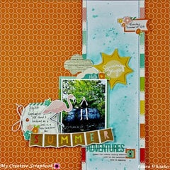 Summer Adventures | My Creative Scrapbook July main kit | Simple Stories | Summer Days