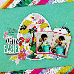 Hello Easter for My Creative Scrapbook / Pink Paislee / Paige Evans / Dear Lizzy