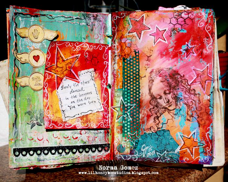 Dancing Stars - Art Journal Page