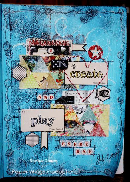 I love to create - art journal