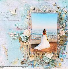 Wedding Photo At Beach, A Layout