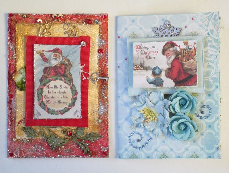 Red and Blue Christmas Cards