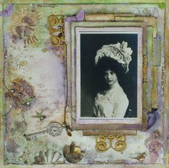 Purple and Green Vintage Page