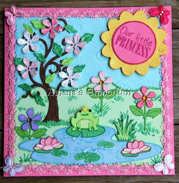 Magical frog pond card