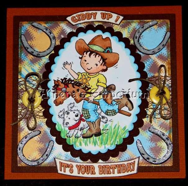 GIDDY UP - COWBOY BIRTHDAY CARD
