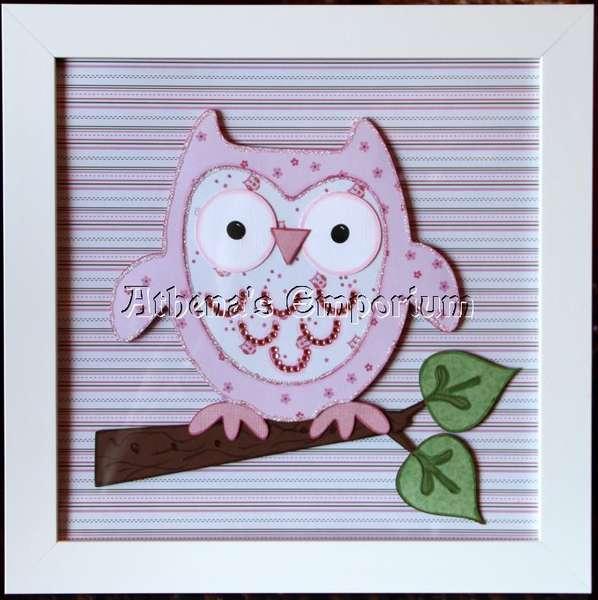 OWL 12X12 WALL ART
