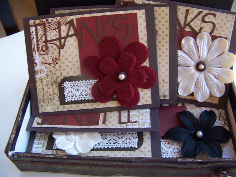 Altered Cigar Box and Cards