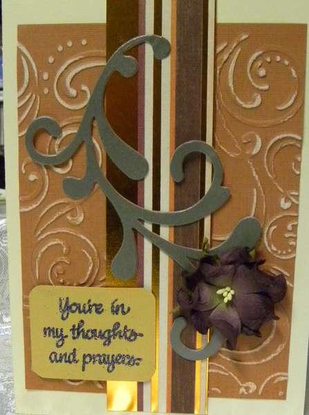 Distressed Sympathy Card