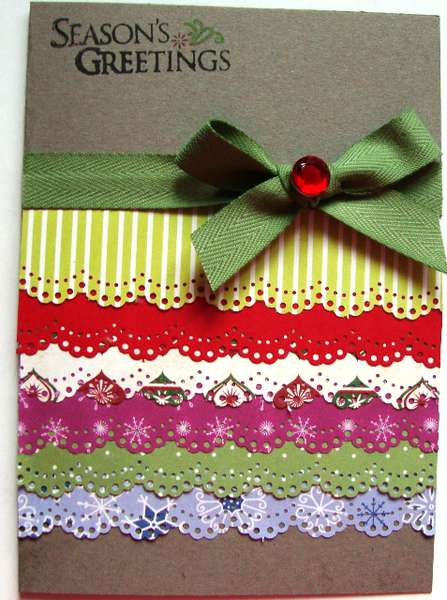Paper Lace Christmas Card