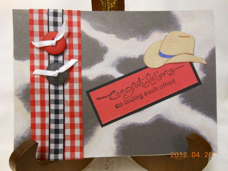 Cowboy Wedding Card