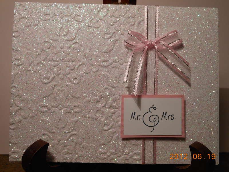 Glittery Wedding Card