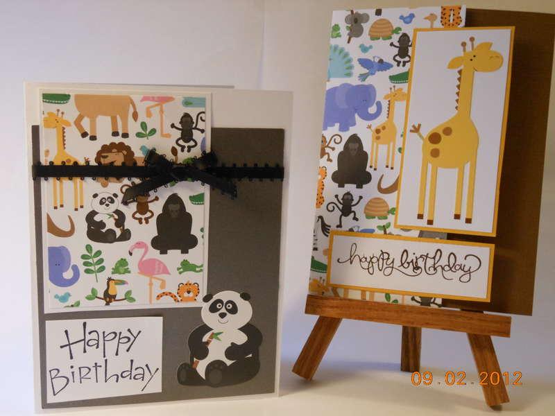 Zoo Birthday Cards