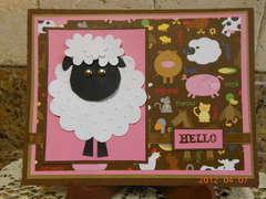 Lamb Hello Card