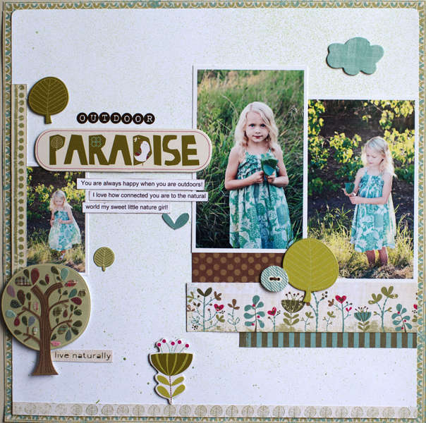 Outdoor Paradise ***March My Creative Scrapbook