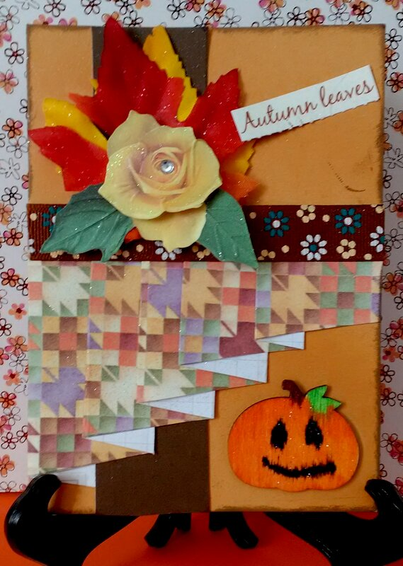 Fall Pleated Card