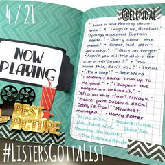 #ListersGottaList - April 21